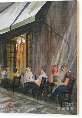 Dinning L'fresco Wood Print