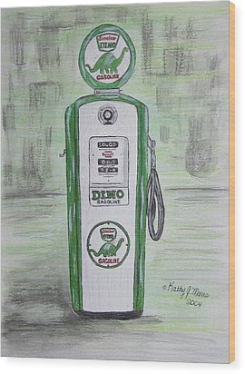 Dino Sinclair Gas Pump Wood Print