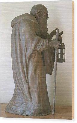 Diogenes Wood Print by Deborah Dendler
