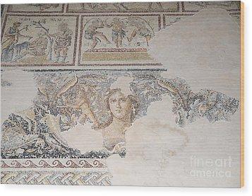 Dionysus Mosaic Mona Lisa Of The Galilee Wood Print by Ilan Rosen