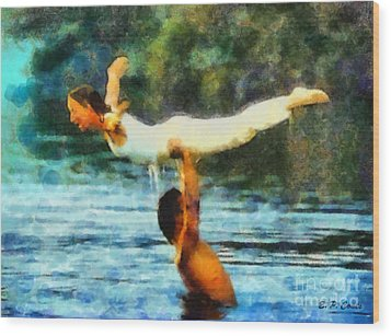 Dirty Dancing Wood Print by Elizabeth Coats