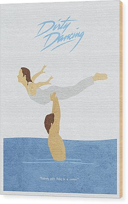 Wood Print featuring the painting Dirty Dancing by Inspirowl