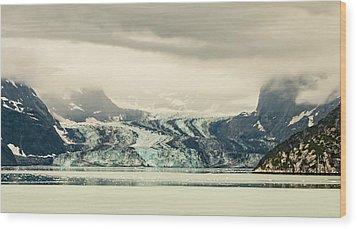 Dirty Glacier Wood Print