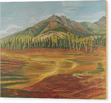 Disappearing Lake Wood Print by Amy Reisland-Speer