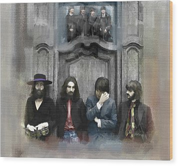 Discontent The Beatles Wood Print by Iconic Images Art Gallery David Pucciarelli