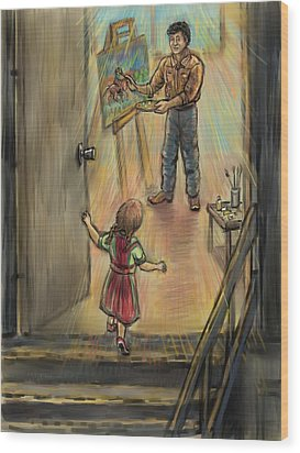 Discovering Daddy's World Wood Print by Dawn Senior-Trask