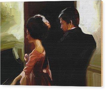 Discreet Whisper Wood Print by Stuart Gilbert