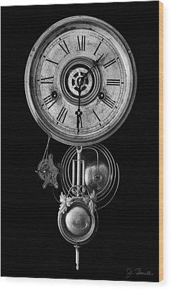 Disembodied Time Wood Print by Joe Bonita