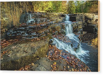 Dismal Creek Falls Horizontal Wood Print