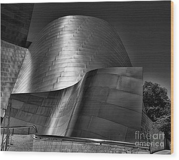 Disney Concert Hall IIi Wood Print by Chuck Kuhn
