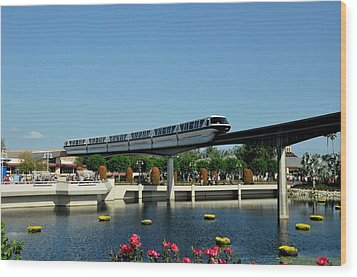 Disney Monorail Wood Print