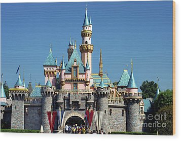 Wood Print featuring the photograph Disneyland Castle by Mariola Bitner