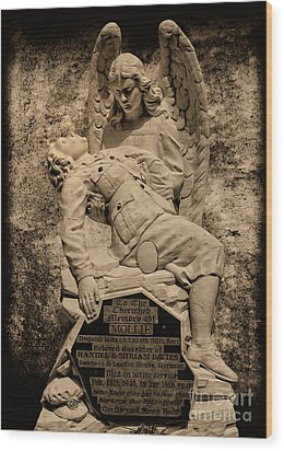 Wood Print featuring the photograph Dispatch Rider Memorial by Nigel Fletcher-Jones