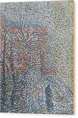 Dissolve In Rain    Wood Print