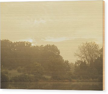 Distant Flutes Wood Print
