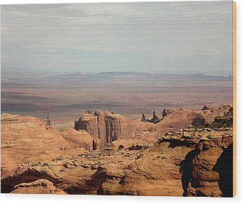 Wood Print featuring the photograph Distant Mesa by Fred Wilson