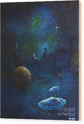 Distant Nebula Wood Print by Murphy Elliott