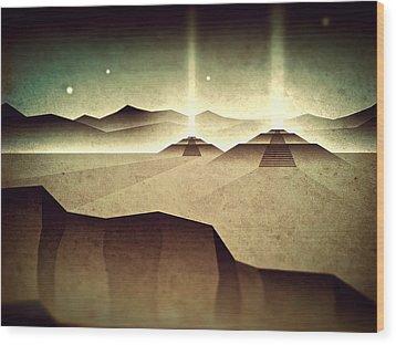 Wood Print featuring the digital art Distant Past Horizon by Milton Thompson