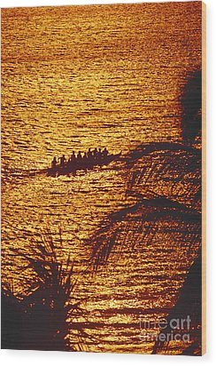 Distant View Of Outrigger Wood Print by Ron Dahlquist - Printscapes