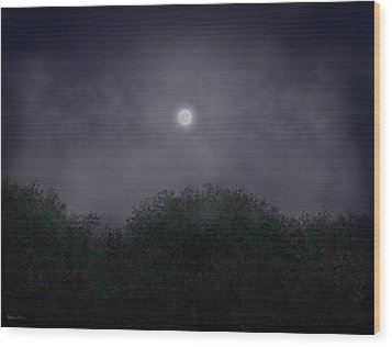 Distant World Wood Print