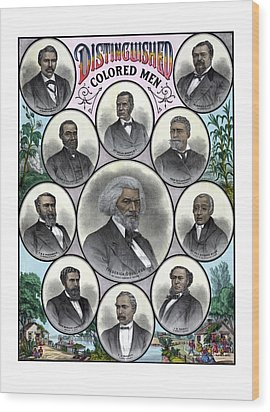 Distinguished Colored Men Wood Print by War Is Hell Store
