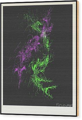 Wood Print featuring the digital art Distortion by John Krakora