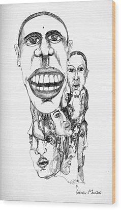 Distortion Wood Print by Padamvir Singh