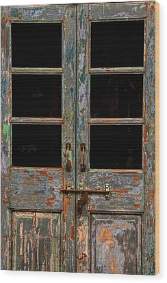 Distressed Doors Wood Print