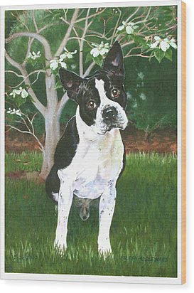 Ditto Wood Print by Eileen Hale