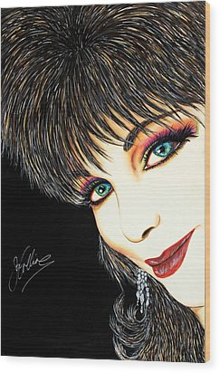 Diva Nasty Wood Print by Joseph Lawrence Vasile