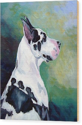 Diva The Great Dane Wood Print by Lyn Cook