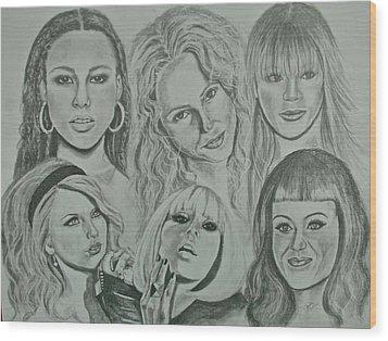 Divas Now Wood Print