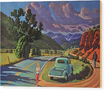 Wood Print featuring the painting Divergent Paths by Art West