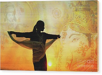 Wood Print featuring the photograph Divine Dance by Tim Gainey