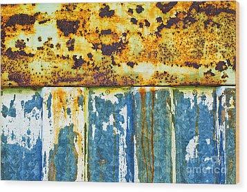 Division Wood Print by Silvia Ganora