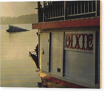 Dixie Boat Ski Ramp Wood Print