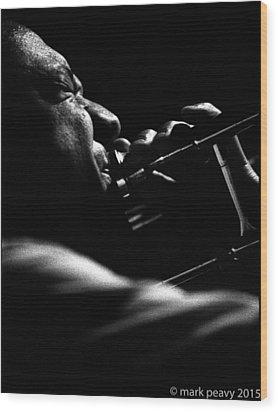 Dixieland Trombone New Orleans Wood Print