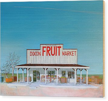 Dixon Fruit Market 1992 Wood Print by Wingsdomain Art and Photography