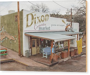 Wood Print featuring the photograph Dixon Market, New Mexico by Britt Runyon