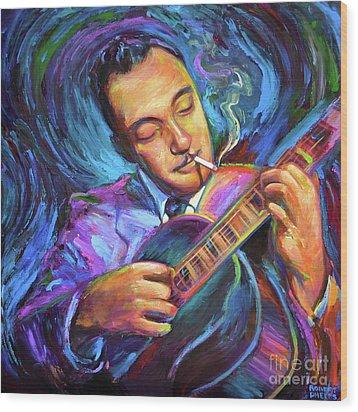 Django Reinhardt  Wood Print