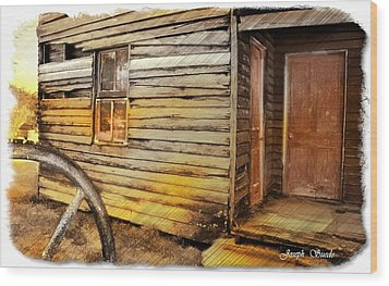 Wood Print featuring the photograph Do-00040 Old House Front by Digital Oil