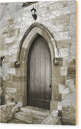 Wood Print featuring the photograph Do-00055 Chapels Door In Morpeth Village by Digital Oil
