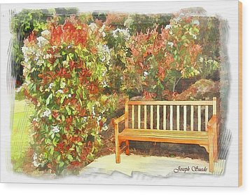 Wood Print featuring the photograph Do-00122 Inviting Bench by Digital Oil