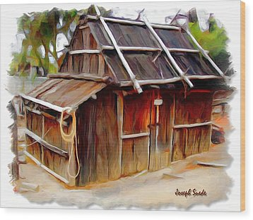 Wood Print featuring the photograph Do-00129 Old Cottage by Digital Oil