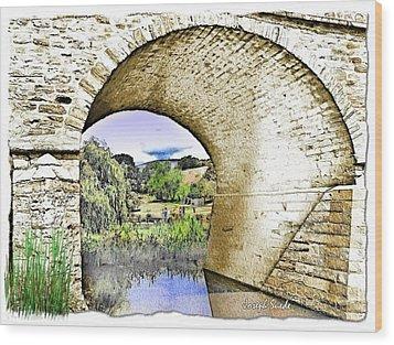 Wood Print featuring the photograph Do-00262 Richmond Bridge by Digital Oil