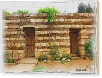 Wood Print featuring the photograph Do-00305 Old Hutt In Anjar by Digital Oil