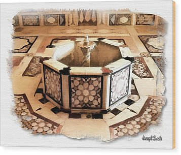 Wood Print featuring the photograph Do-00323 Old Bath Fountain by Digital Oil