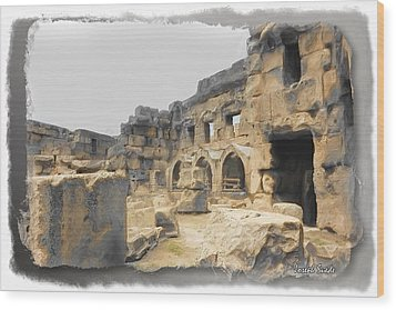 Wood Print featuring the photograph Do-00452 Inside The Ruins by Digital Oil