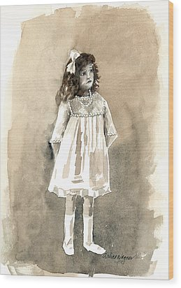 Do I Have To Wear A Dress Wood Print by Arline Wagner