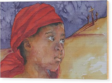 Do Not Be Afraid Wood Print by Donna Pierce-Clark